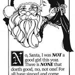 Little girl Santa Claus Pagan Troll