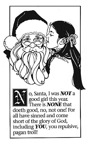 Little girl Santa Claus Pagan Troll