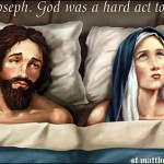 Joseph and Mary in bed