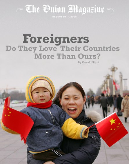 Foreigners love their countries more than ours