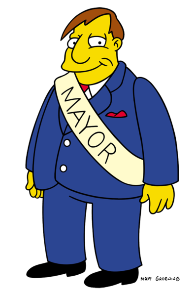 Simpsons' Mayor Quimby Kennedy
